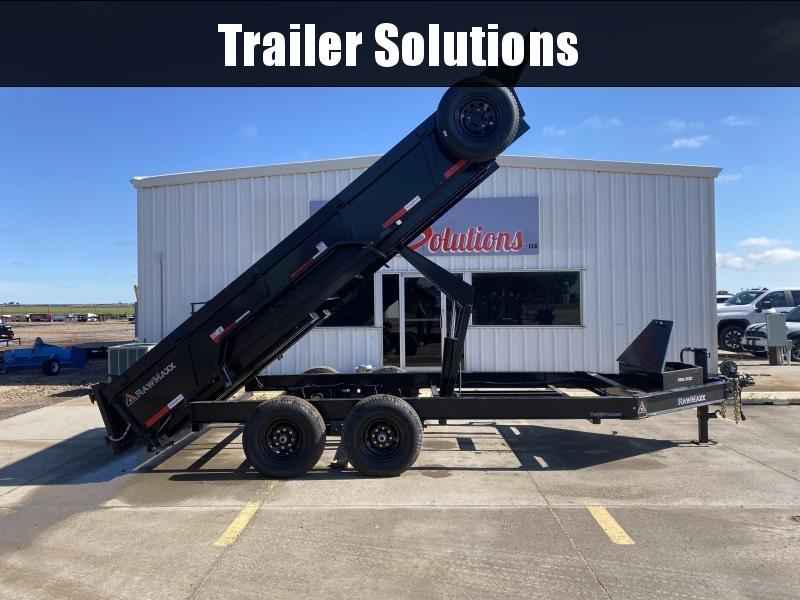 """2022 RawMaxx 16' x  83"""" Dump Trailer"""