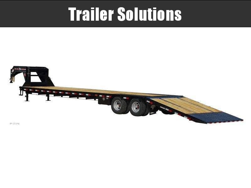 2021 PJ 34' Low Pro with Hydraulic Dove Trailer