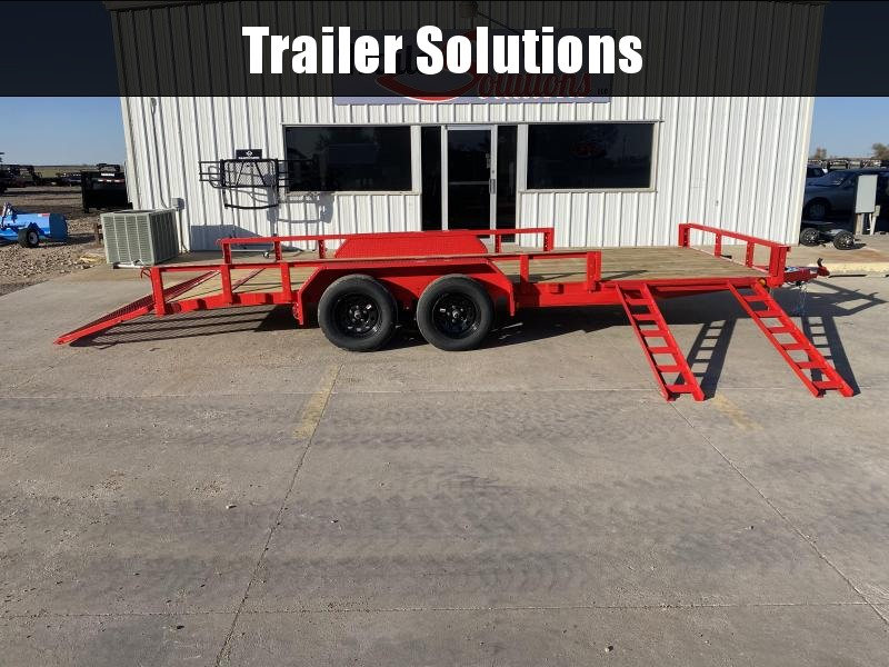 "2021 PJ 18' x 83"" Tandem Axel Channel Utility Trailer"