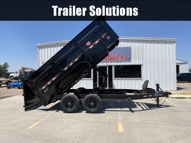 """2022 PJ 14' x 83"""" Low Pro High Side Dump Trailer (DM)"""