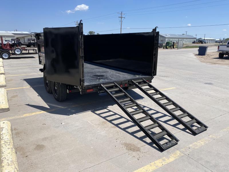 """2022 PJ 14' x 83"""" Low Pro High Side Dump Trailer"""