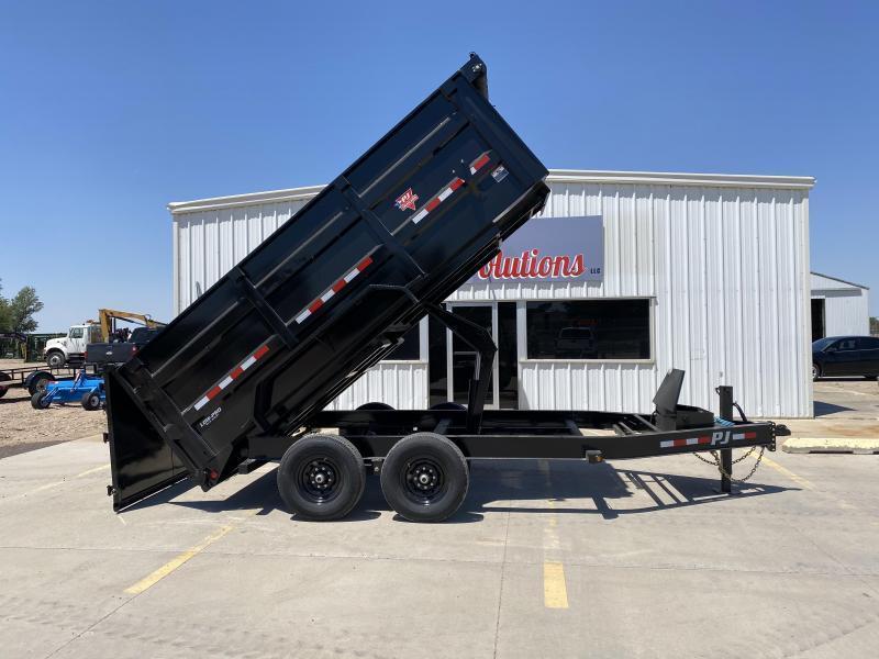 """2022 PJ 16' x 83"""" Low Pro Dump High Side Dump Trailer"""