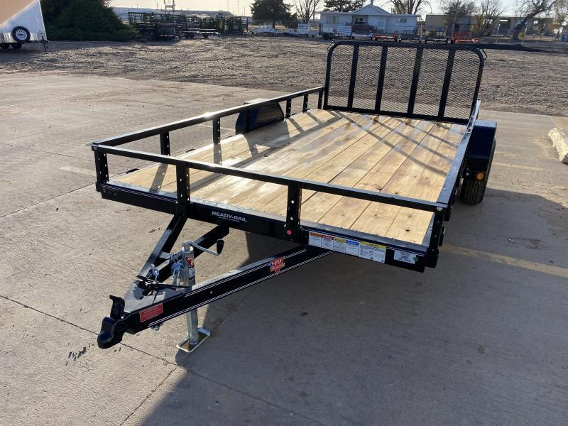 """2021 PJ 14' x 83"""" Single Axle Channel Utility Trailers"""