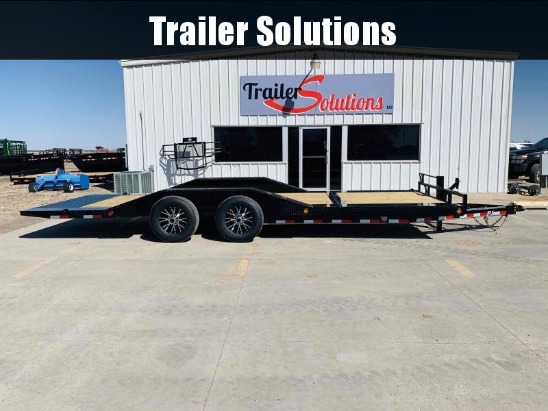 "2021 PJ 22' x 102"" with 6"" Channel Super Wide Tilt Trailer"