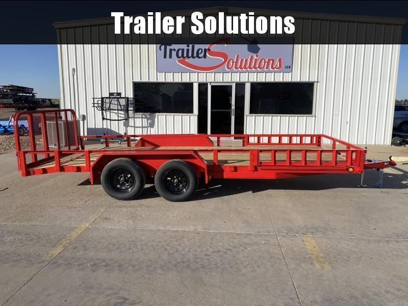"2022 PJ 18' x 83"" Tandem Axle Channel Utility Trailer"