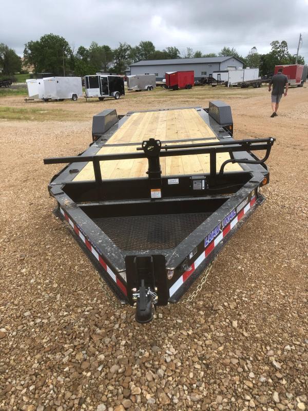 2021 Load Trail 83X22, 16+6 Tilt, 14K GVWR, 10K Jack, Flatbed Trailer