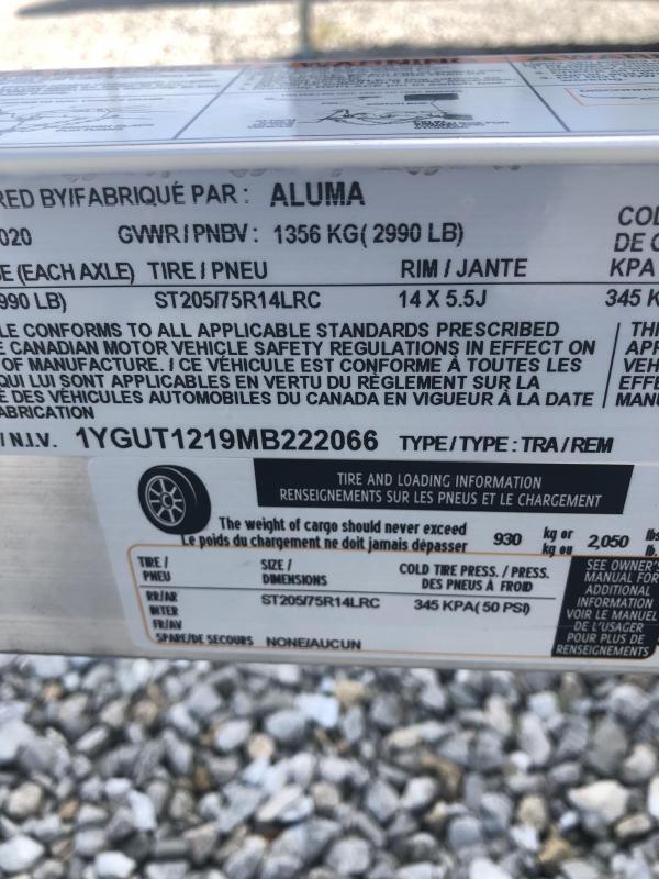 2021 Aluma UTR12 Utility Trailer