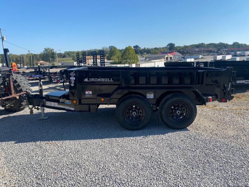2022 Iron Bull 5X10 10K GVWR DTB Dump Trailer
