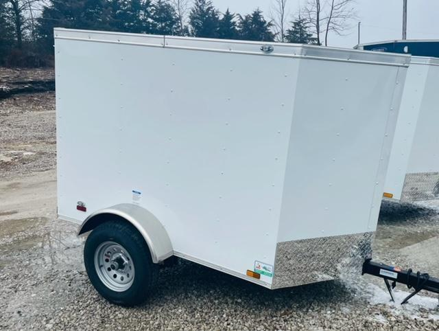 2021 Continental Cargo 4x6 V Nose Enclosed Cargo Trailer