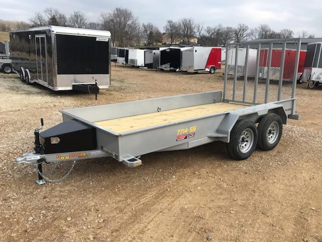 2021 Doolittle Trailer Mfg 77X14 DOOLITTLE SOLID SIDE Utility Trailer
