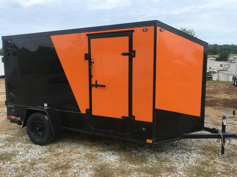2020 Stealth Trailers 6x12 TITAN BLACKHAWK M/C PACKAGE Enclosed Cargo Trailer