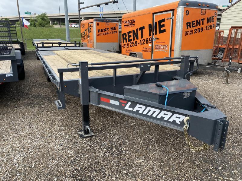 2021 Lamar Trailers 102x22 F827 Flatbed Trailer