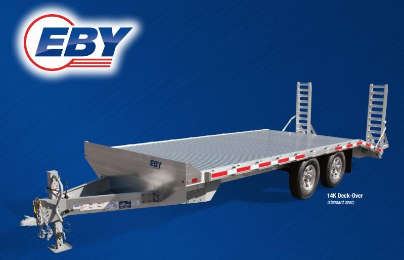 2021 EBY Truck Bodies 14K Bumper Pull Deck-Over Equipment Trailer