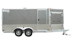 2019 Mission MES 7.5X16 Snowmobile Trailer