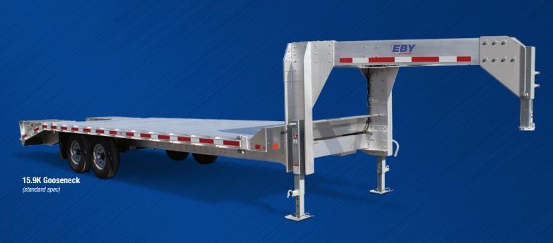 2019 EBY Truck Bodies Flatbed Gooseneck 15900 lbs Flatbed Trailer