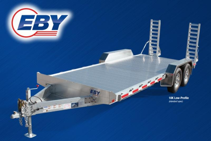 2021 EBY Truck Bodies Low-Profile 10K Bumper Pull Equipment Trailer