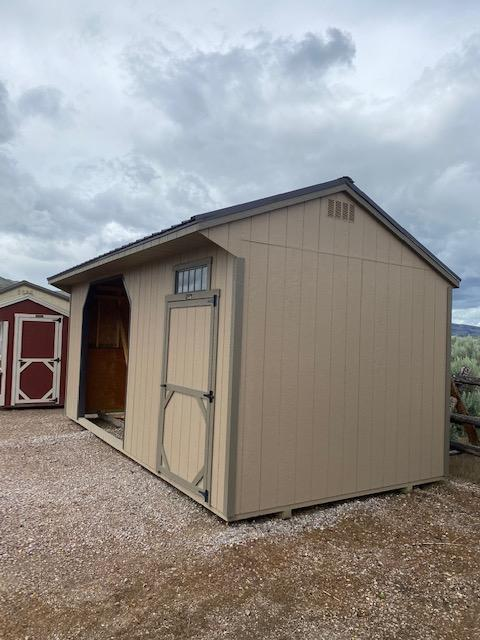 Quaker 10' x 20' Animal Shelter Shed by Montana Shed Center