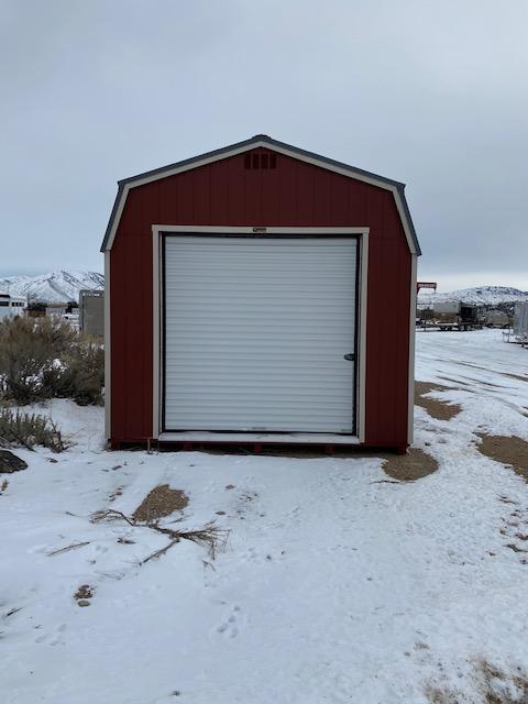 Hi-Side Garage Utility Shed by MSC