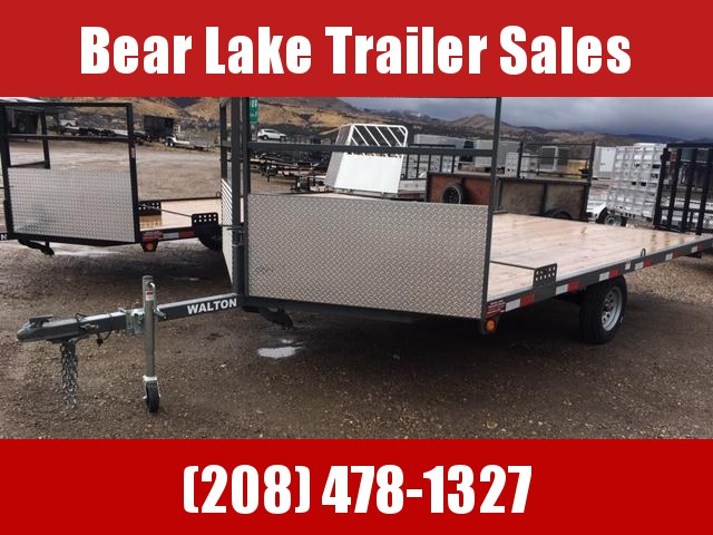 2020 Walton Trailers 2 place open snow Snowmobile Trailer