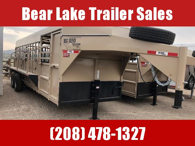 2021 Big Bend Stock w/ Dog Boxes Livestock Trailer