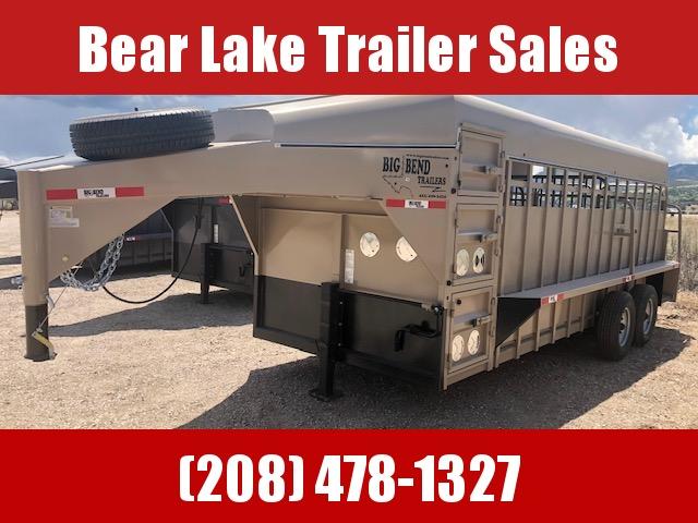 2021 Big Bend 20' Stock W/ Tack and Dog box Livestock Trailer