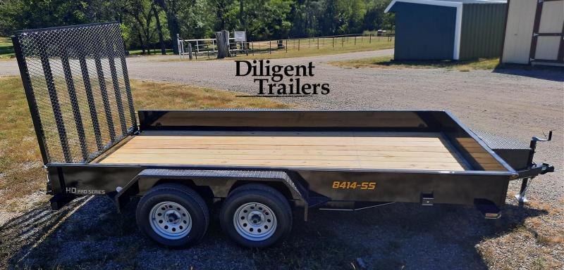 "2022 Doolittle Trailer Mfg 84"" x14' SS Tandem Axle 7K Utility Trailer"