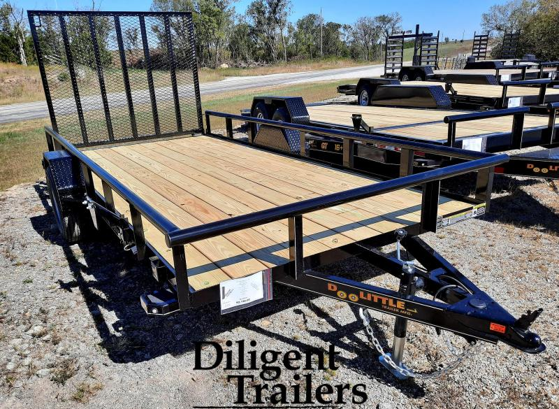 "2021 Doolittle Trailer 77"" x14' Single Axle 3.5K Utility Trailer"