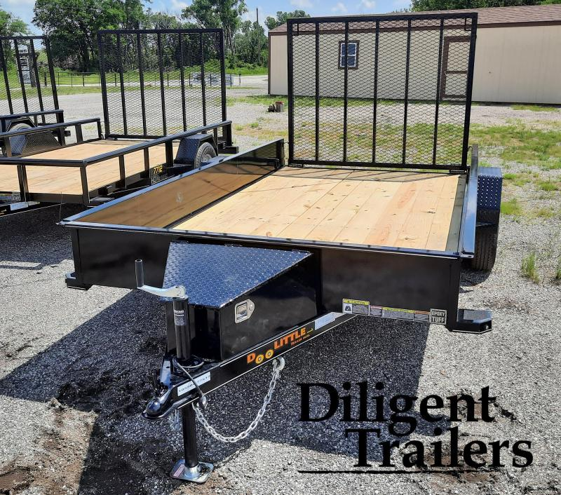 """2021 Doolittle Trailer 77"""" x12' SS Single Axle 3.5K Utility Trailer"""