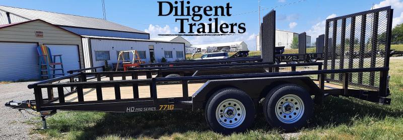 "2022 Doolittle Trailer 77"" x16' Tandem Axle 7K Utility Trailer"