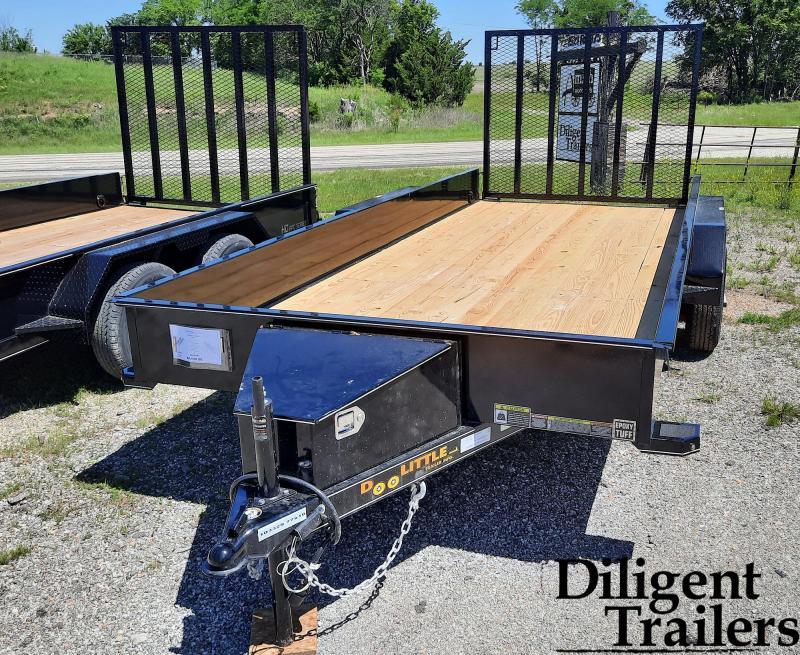 "2021 Doolittle Trailer Mfg 77"" x16' SS Tandem Axle 7K Utility Trailer"