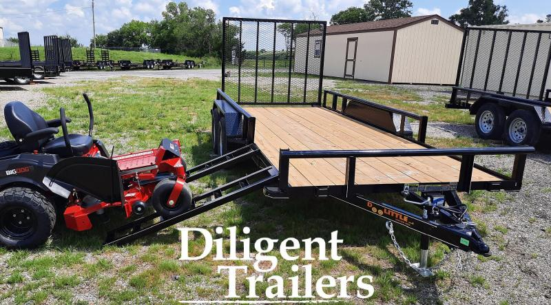 "2021 Doolittle Trailer 77"" x16' Tandem Axle 7K Utility Trailer"