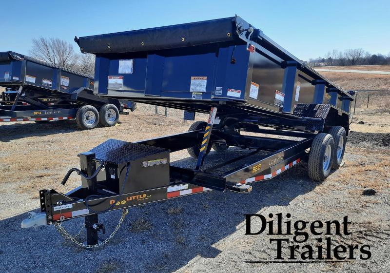 """2021 Doolittle Trailer Mfg 82""""x16' Tandem Axle 14K Dump Trailer"""