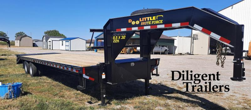 """2022 Doolittle Trailer Mfg 102""""x32' Tandem Axle 22K Gooseneck Deckover"""