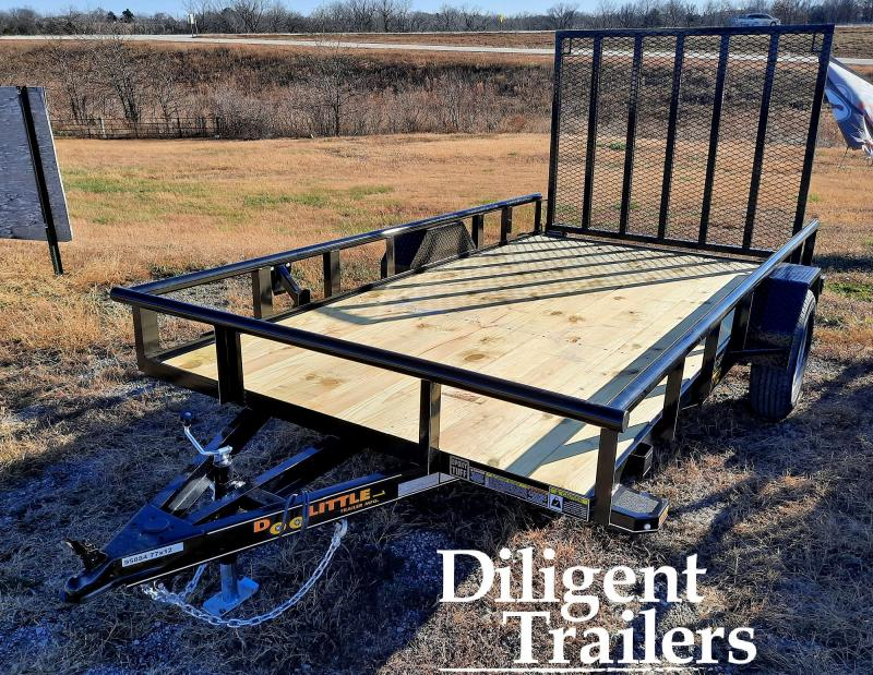 "2021 Doolittle Trailer Mfg 77"" x12' Single Axle 3.5K Utility Trailer"