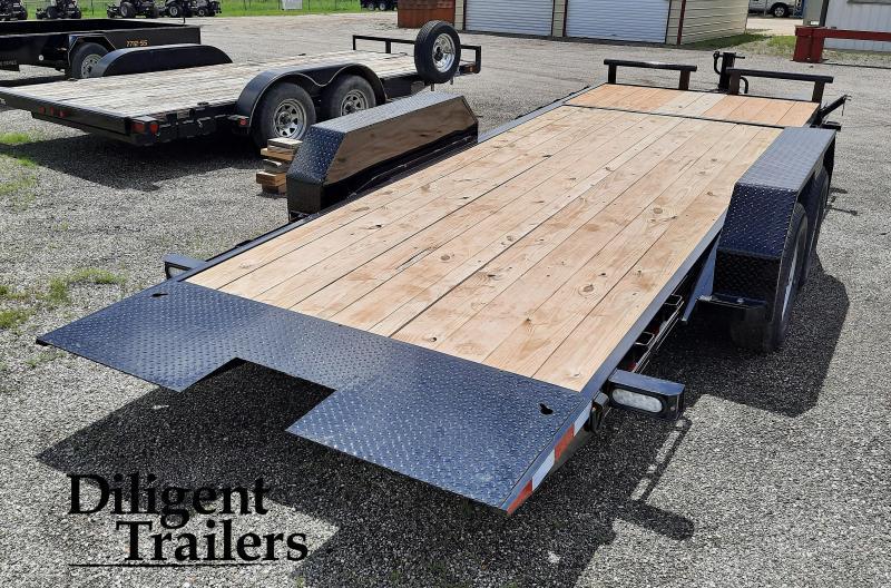 "2021 Doolittle Trailer Mfg 82""x20' Tandem Axle 10K EZ Loader GT Equipment Trailer"