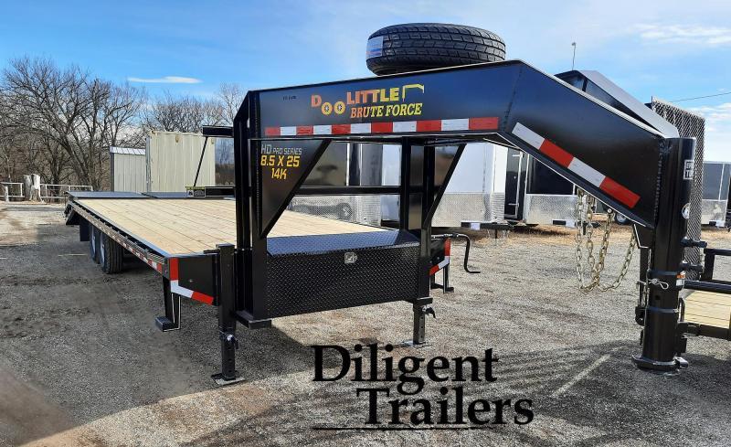"""2021 Doolittle Trailer Mfg 102""""x25' Tandem Axle 14K Gooseneck Deckover"""