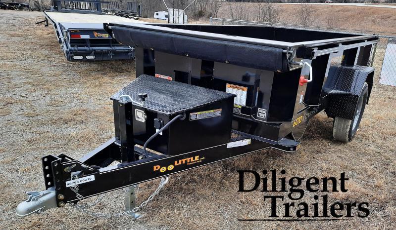 "2021 Doolittle Trailer Mfg 60"" x10' Single Axle 7K Master Dump Trailer"