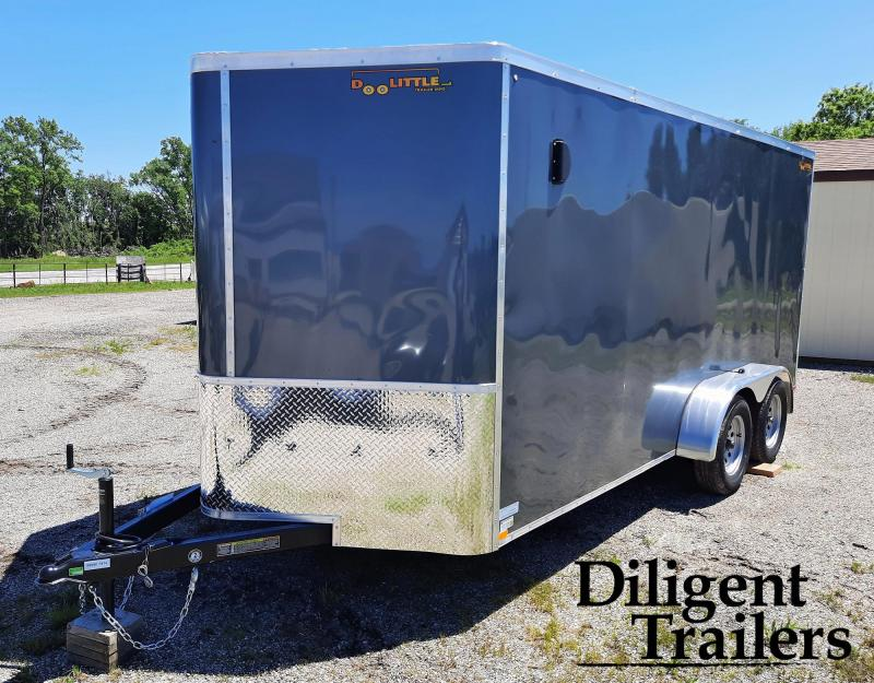 2021 Doolittle Trailer 7'x16' Tandem Axle 7K Enclosed Cargo Trailer