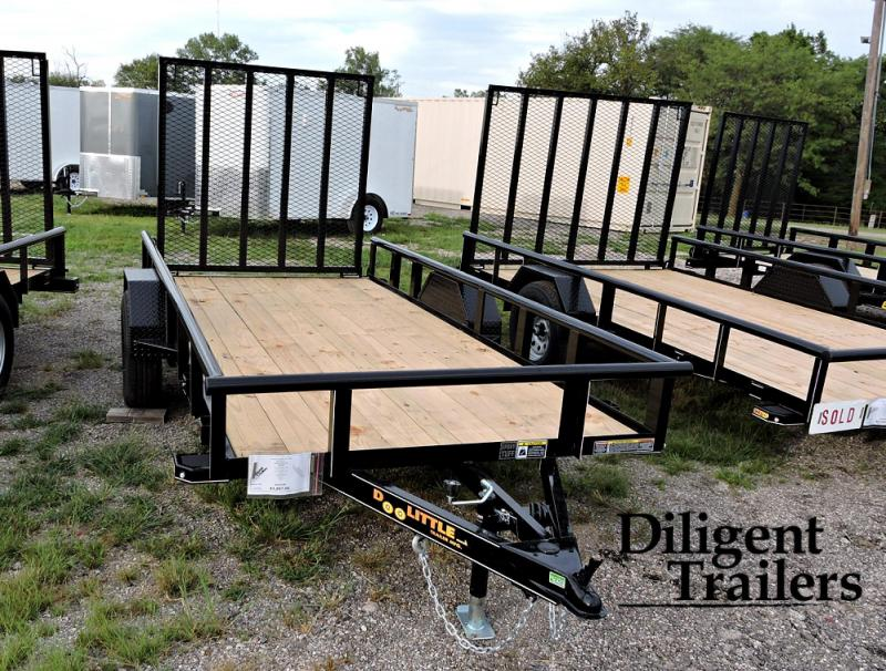 "2021 Doolittle Trailer Mfg 66"" x12' Single Axle 3.5K Utility Trailer"