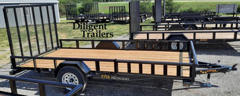 "2022 Doolittle Trailer 77"" x14' Single Axle 3.5K Utility Trailer"