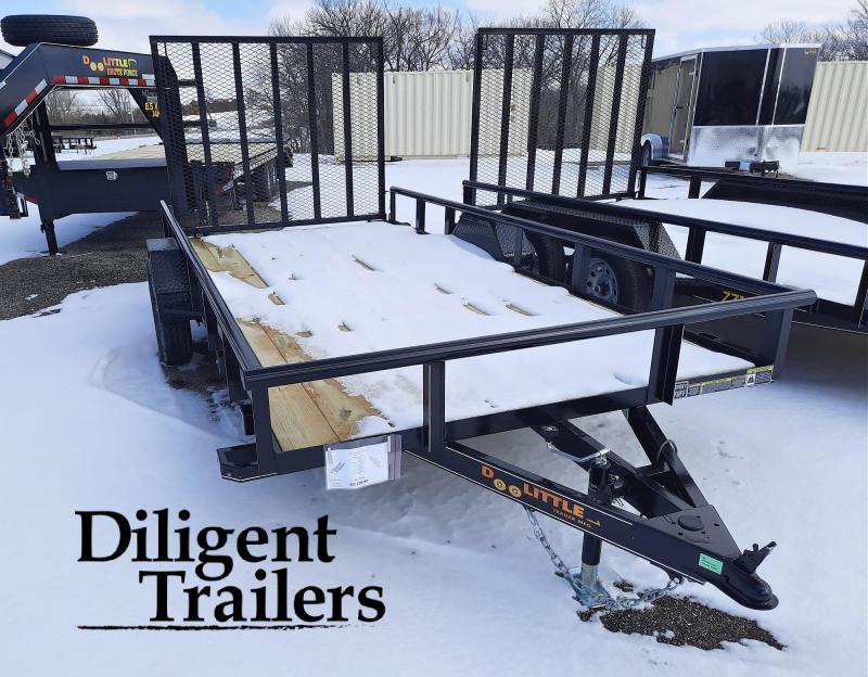 "2021 Doolittle Trailer 77"" x14' Single Axle 3.5K Utility Trailer"