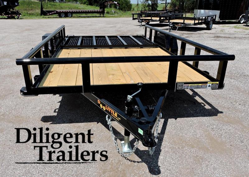 "2021 Doolittle Trailer Mfg 77"" x12' Single Axle 3.5K Utility Trailer"