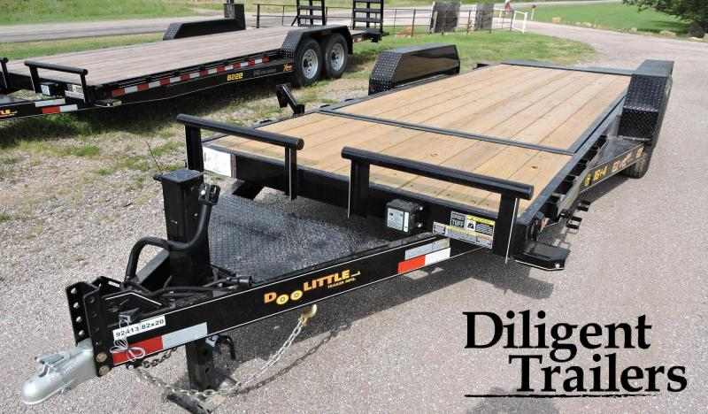 "2021 Doolittle Trailer Mfg 82""x20' Tandem Axle 14K EZ Loader GT Equipment Trailer"