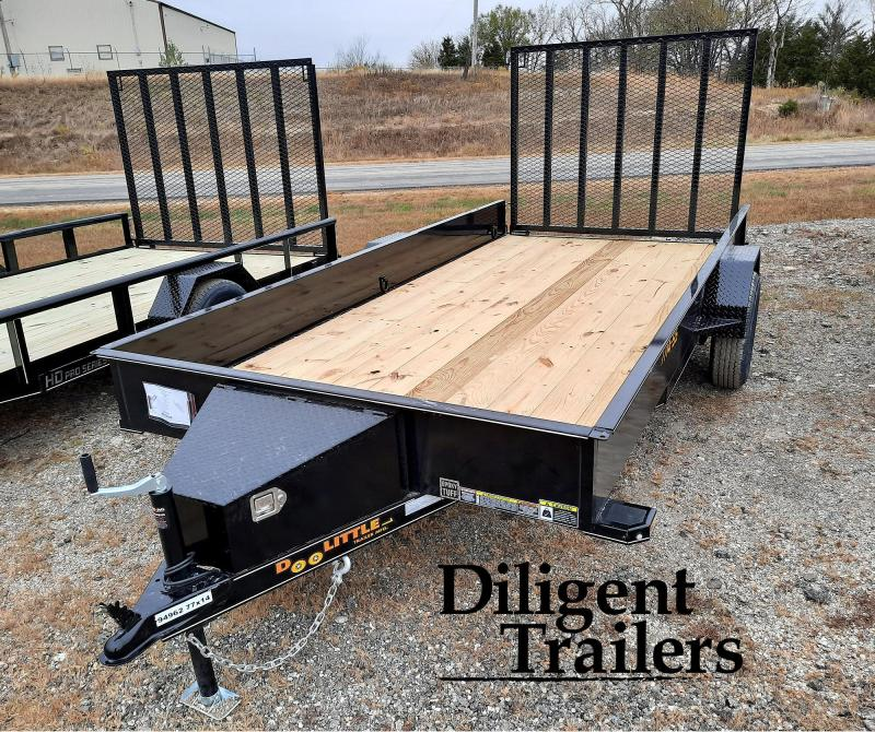 "2021 Doolittle Trailer Mfg 77"" x14' Steel Sided Single Axle 3.5K Utility Trailer"