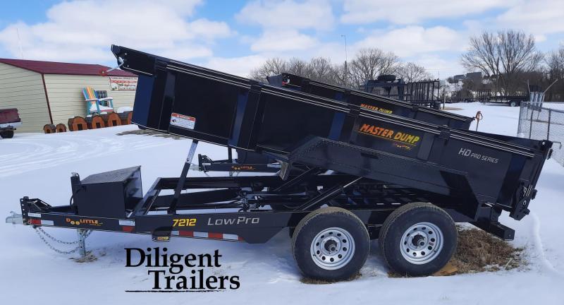 "2021 Doolittle Trailer 72"" x12' Tandem Axle 10K Master Dump Trailer"