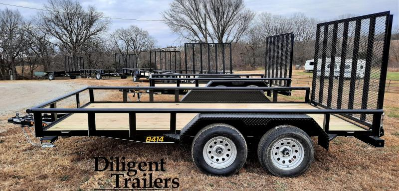 "2021 Doolittle Trailer Mfg 84"" x14' Tandem Axle 7K Utility Trailer"