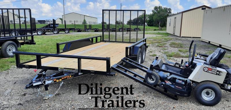 "2021 Doolittle Trailer 84"" x16' Tandem Axle 7K Utility Trailer"