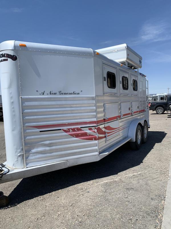 2001 Bloomer bumper pull 3 Horse Trailer