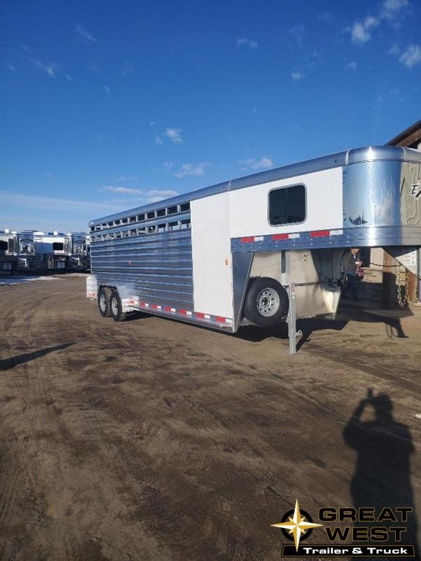 2020 Exiss Trailers STC7024 24' Stock combo Horse Trailer