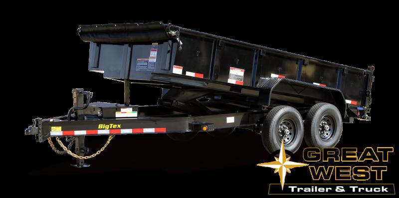 2021 Big Tex Trailers 14LP-14 Dump Trailer w/Ramps